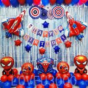 Spiderman Party Decorations Party Supplies Spiderman Balloons 84 Pcs Us Seller