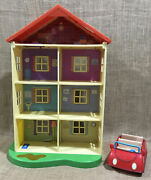 Lot Of Peppa Pig Lights And039nand039 Sounds Family Home Playset 22 Doll House And Car