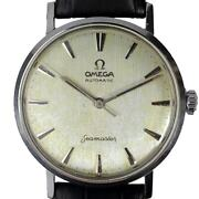 Omega Seamaster 14765 Sc 01 Linen Dial 1961 Menand039s Vintage Watch