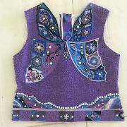 Emilio Pucci Vintage Collection Butterfly Beaded Top Sz It42 Us S-m Beautiful