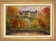 Thomas Kinkade Studios Biltmore In The Fall 24 X 36 Le S/n Canvas Framed