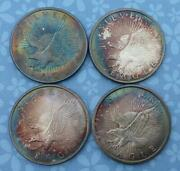 Sunshine Minting 1oz .999 Fine Silver Rounds, 4 Rounds, Color Tone, Eagle Style