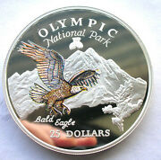 Cook 1996 Eagle 25 Dollars 5oz Colour Silver Coin,proof