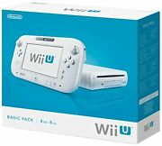 Nintendo Wii U 8gb Console In White With Gamepad Video Game Systems Very Good