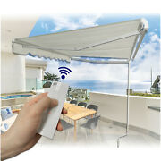 11.5and039andtimes8and039electronic Awning W/ Remote Control Or Crank Handle Sun Shade Canopy Pat