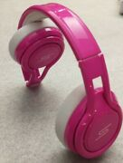 Sms Audio Street By 50 Cent On-ear Headphones Electic Pink Removable Wired Case