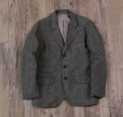 Nativewell Japanese Fabric Classic Vintage Casual Wool Blend Men's Suit Coat