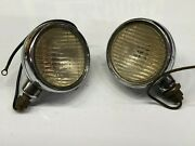 Pair Vintage Cowl Lamp Lights 1930and039s Dodge Car Old Truck Mopar Chrysler Plymouth
