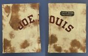 Vintage Joe Louis Collector's Custom Album With 10 Title Fight Programs And Misc