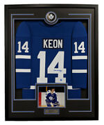 Dave Keon Toronto Maple Leafs Signed Retro Style 36x44 Framed Hockey Jersey