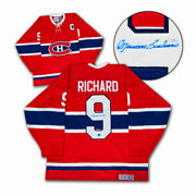 Maurice Rocket Richard Montreal Canadiens Autographed Ccm Vintage Hockey Jersey