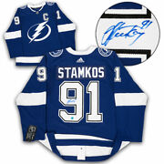 Steven Stamkos Tampa Bay Lightning Autographed Adidas Authentic Hockey Jersey