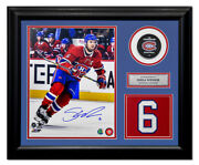 Shea Weber Montreal Canadiens Autographed Jersey Number 20x24 Frame