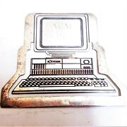 And Co. Sterling Silver 925 Vintage Computer Figural Bookmark Paper Clip