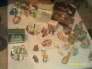 Large Collection Of Nativity Sets And Pieces Porcelain Ren Glass