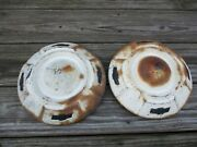 1950's Chevy Apache Truck Dog Dish Hubcaps Set Of 2 Oem