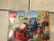 Lego Creator Red Go-kart - New - Sealed - Rare/discontinued