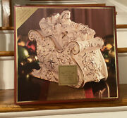 Lenox Florentine And Pearl Jeweled Sleigh Candy Dish / Cookie Jar Christmas