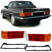 Tail Light Lenses With Seals For Mercedes Sl R107 Slc C107 1971-1989
