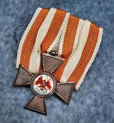 Ww1 Germany Imperial Order Of The Red Eagle Enamel Swords Iron Cross Badge Medal