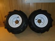 New Holland Compact Tractor Pair Of Front Wheels And Tires Size18x8.50-8