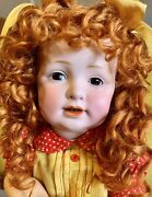 """Antique 16"""" 220 Kestner German Bisque Toddler Doll W/mohair Wig And Great Outfit"""