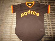 Terry Kennedy 16 San Diego Padres 1982 Mlb Game Used Worn Wilson Jersey 46