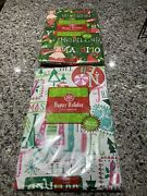Christmas Holiday Vinyl Tablecloths. 60andrdquo Round. Lot Of 2. New In Package.
