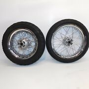 Harley Touring Oem Smooth Profile 16x5 Rear/front Wheels Rims Spoke Laced 09-20
