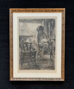 Ralph Fletcher Seymour Signed Etching And So To Bed Chicago Artist Nude