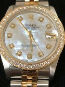 Factory Rolex Mid 68273 31mm Datejust 18k And Ss Factory Dial Jubilee Bracelet