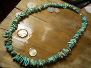 Turquoise Beads The Real Thing Vintage Bisbee .damele Natural Nugget Necklace