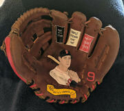 Ted Williams Hand Painted Vintage Baseball Glove. Red Sox.