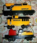 Toy State Caterpillar Train Set, Engine, Cars And Track--for Parts. 1992
