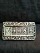 Silver Trumps Indicator For Whist/bridge With Beautiful Repousse Work