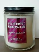 White Barn Peppermint Marshmallow 7 Oz Jar Scented Candle New