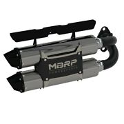 Mbrp Stacked Dual Slip-on Performance Series Exhaust For 18-19 Polaris Rzr 1000