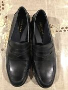 Cole Haan Flemming Black Penny Loafer Mens 8m New Retail 149
