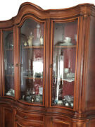 Antique Display Cabinet, Made Of Solid Wood