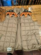 Rare Lrg Lifted Research Group Father Nature Vest Puffer Jacket Xxl 2xl