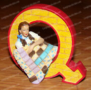 Wizard Of Oz Alphabet Dorothy With Quilt Letter Q Westland Giftware 17017