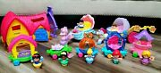 Disney Princess Parade Train Floats Carriage Set Lot Fisher Price Little People