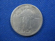 1917 S Standing Liberty Silver Quarter 25 Cent Coin Type 1