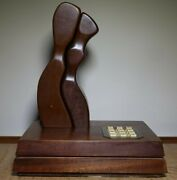Rare Vintage 1979 Adam And Eve Mahogany Wooden Phone Teleconcepts - Works