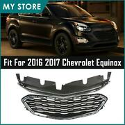Fits 2016 2017 Chevrolet Equinox Front Upper And Lower Grille Chrome Set Usa