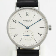 Nomos Tangente Tn1a1w2 Hand Winding White Dial Stainless Leather Menand039s