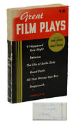 Great Film Plays Signed By Dudley Nichols Inscribed To Francis D. Lyon 1959