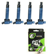 Ignition Coil + E3 Racing Spark Plugs For 05-12 Toyota Tacoma 2.7l Uf495