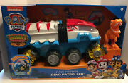 New Paw Patrol Dino Rescue Dino Patroller Vehicle W Chase And T-rex Figures