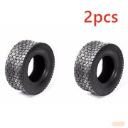 2x Tire 16x6.50-8 4 Ply Turf Lawn Mower 16x6.5-8 Tubeless Tractor Tire